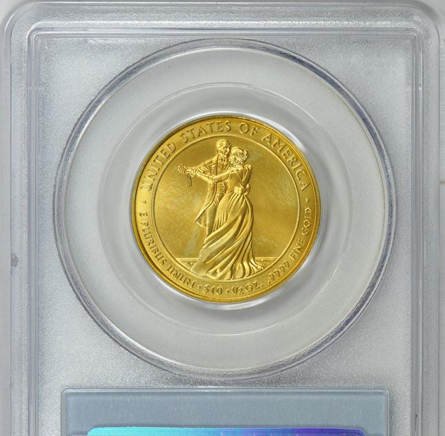 2009-W 10ドル金貨 ジュリア タイラー$10 PCGS MS70-15174356