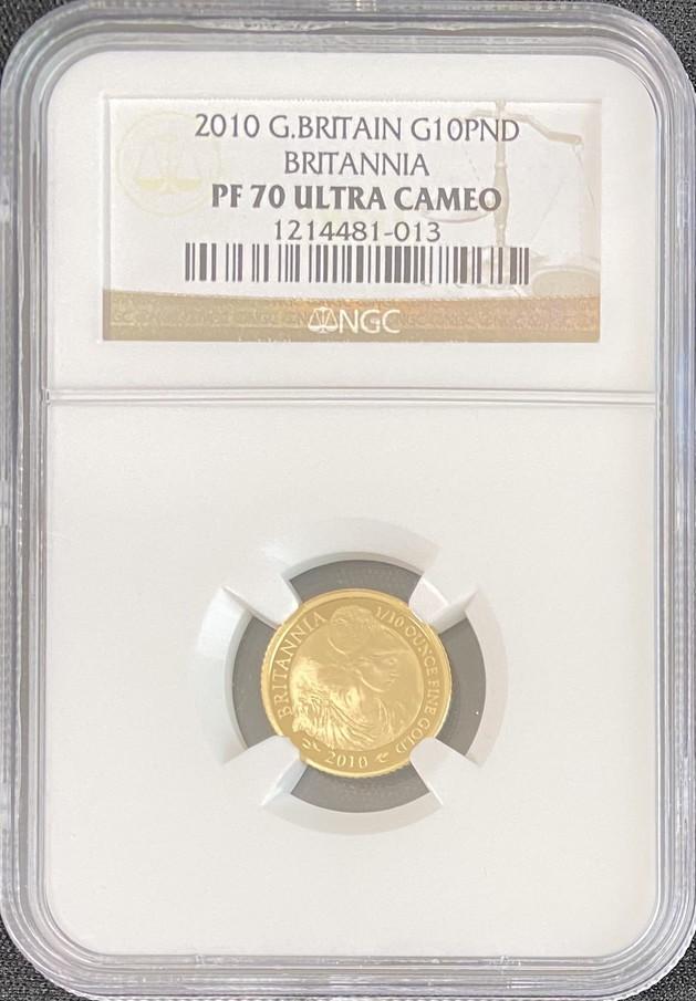 【4枚組1.85オンス】グレートブリテン2010年ブリタニア100・50・25・10ポンド金貨NGC-PF70UCAM