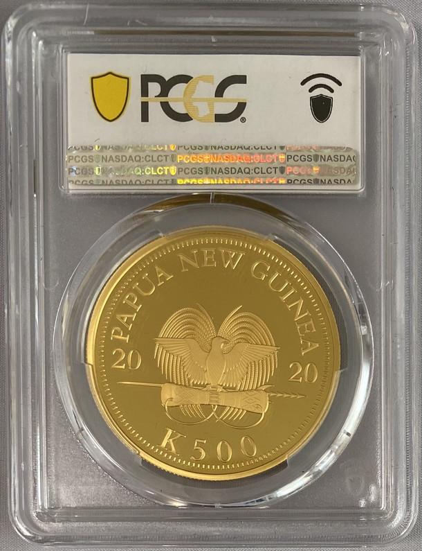 【動画あり】イギリス連邦パプアニューギニア2020極楽鳥500K-PCGS-PR70DCAMプルーフ金貨箱付き