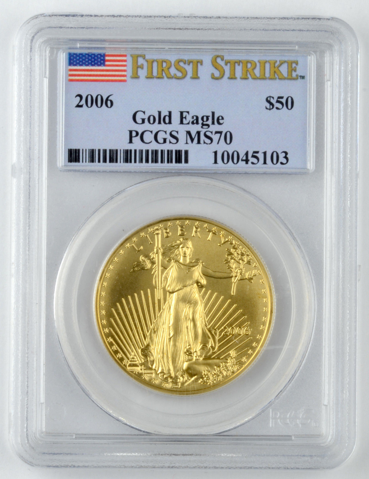 50ドル金貨 ゴールドイーグル 2006 GOLD EAGLE  $50 PCGS MS 70  First Strike 完全未使用