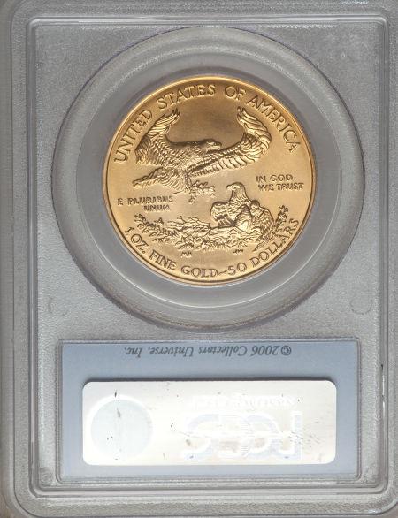 【動画あり】50ドル金貨 ゴールドイーグル 2006 GOLD EAGLE  $50 PCGS MS 70 ファーストストライク完全未使用