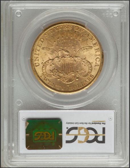 【動画あり】アンティークコイン アメリカ 20ドル金貨リバティヘッド1889-S LIBERTY $20 MS62 PCGS