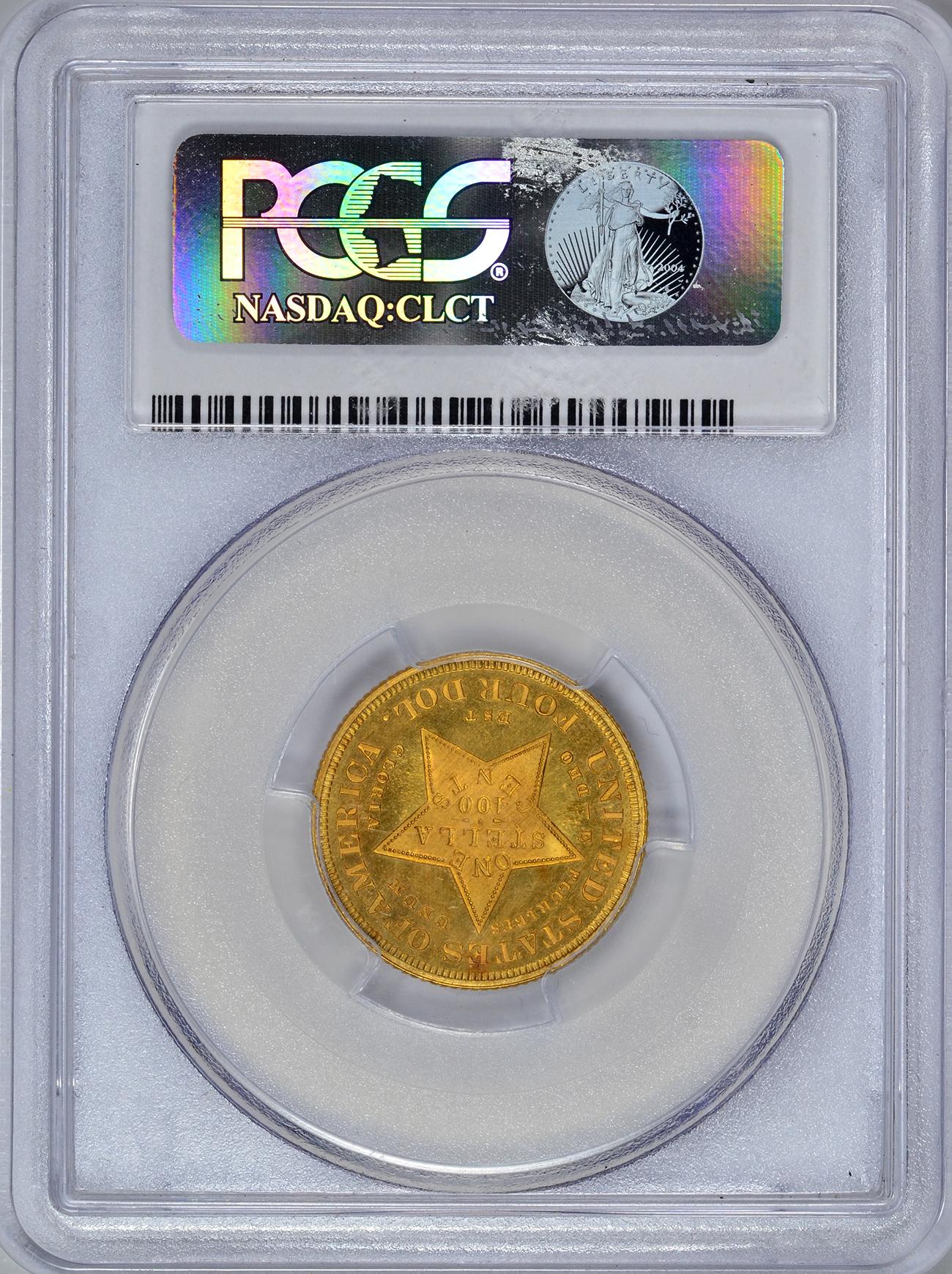 アメリカアンティークコイン4ドルステラ金貨1879 Stella $4 PCGS Secure Proof 65 CAM フローイングヘア