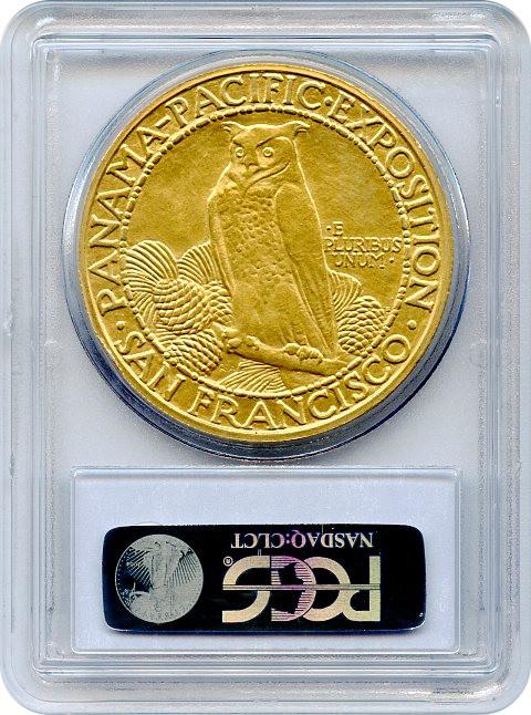 アメリカアンティークコイン50ドル パナマパシフィック金貨1915-S Round $50 PCGS AU58
