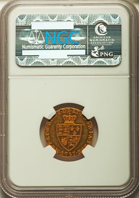 【動画あり】グレートブリテン ハーフギニー プルーフ金貨George III gold Proof 1/2 Guinea 1787 PR63 NGC