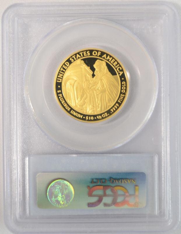 【動画あり】2008-W ルイーザ・アダムズ10ドル金貨 $10 PCGS PR70 DCAM