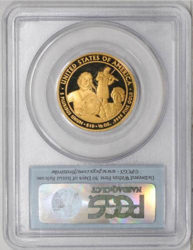【動画あり】2011-W 10ドル金貨 イライザジョンソン $10 PCGS PR70-DCAM ファーストストライク