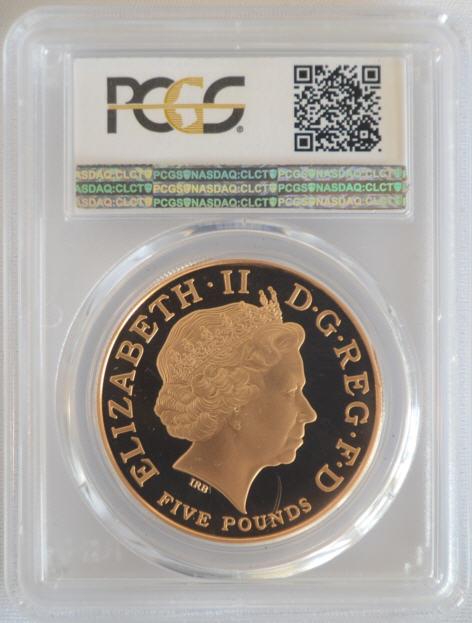【動画あり】2005 ホレーショ・ネルソン5ポンド金貨Horatio Nelson PR69DCAM PCGS