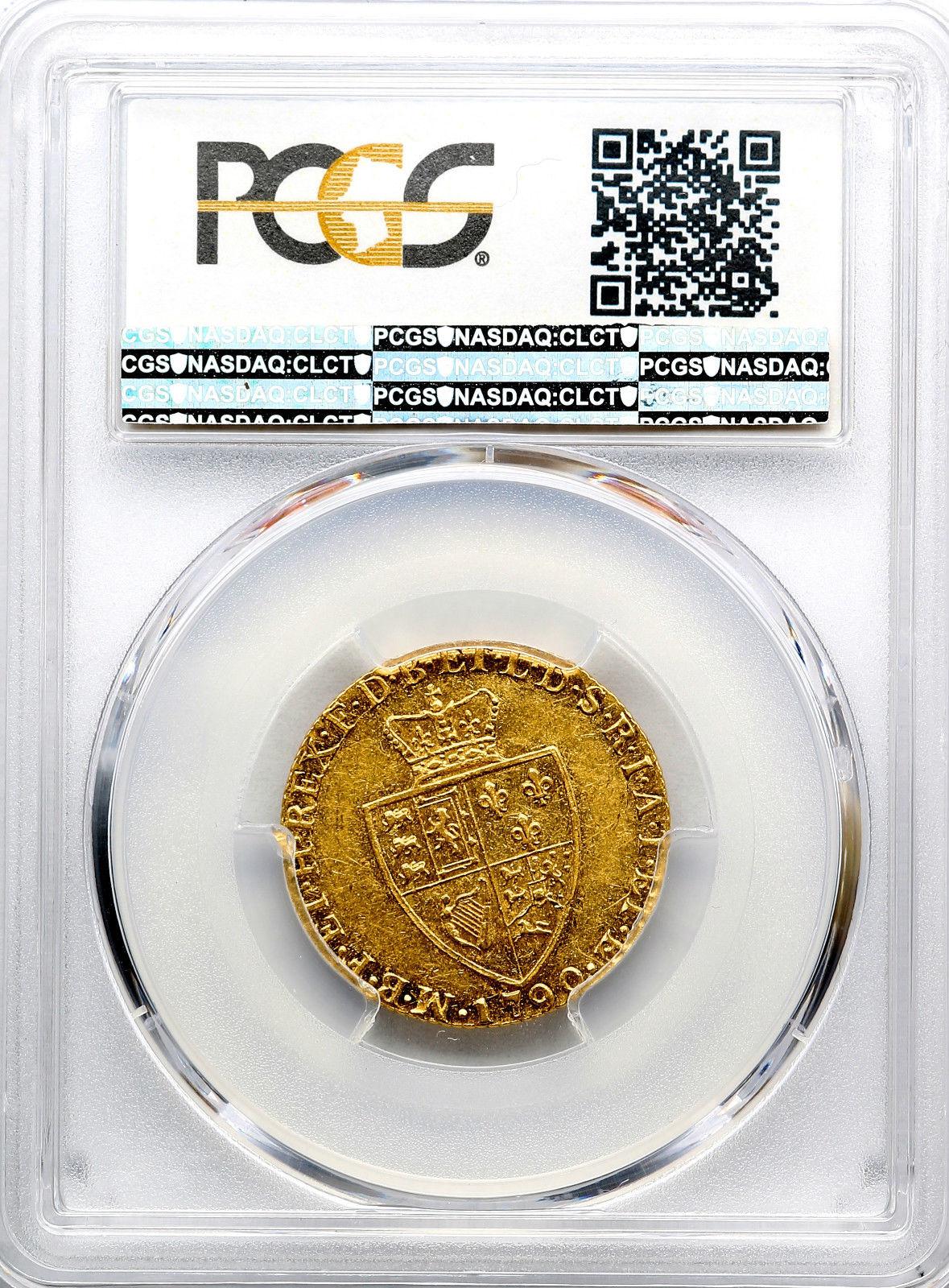 グレートブリテン1ギニー金貨George III gold Guinea 1790 AU53 PCGS
