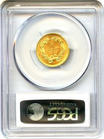 アンティークコイン アメリカ 3ドル金貨インディアンプリンスヘッド1854 $3 PCGS/CAC MS62 売切れ