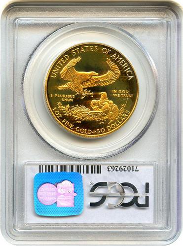 アメリカ 50ドル金貨 1986-W Gold Eagle $50 PCGS Proof69 DCAM 未使用