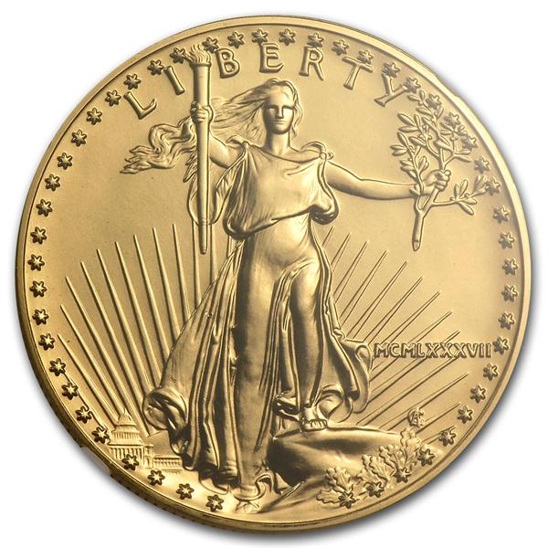 アメリカ 50ドル金貨 1987 Gold  Eagle MS-70 NGC  完全未使用