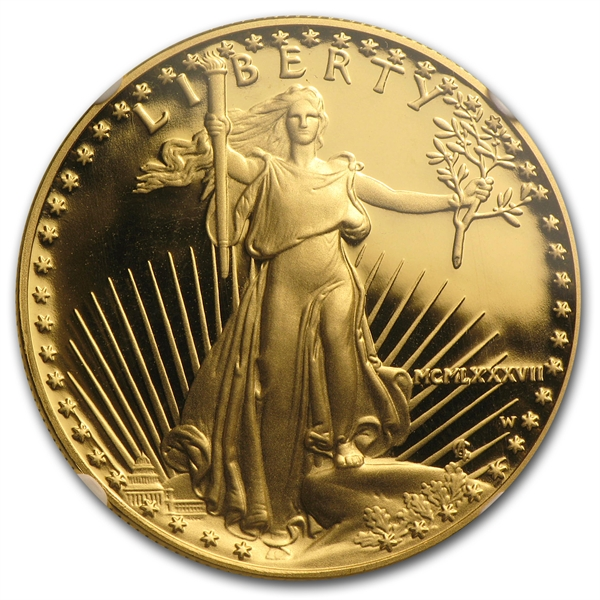 50ドル金貨 1987-W Proof Gold  Eagle PF-70 NGC UCAM 完全未使用
