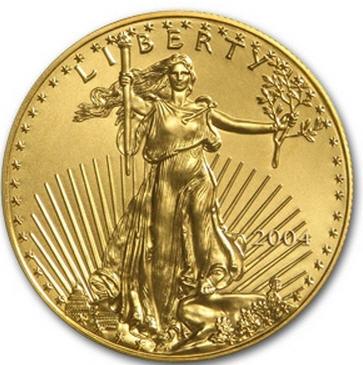 50ドル金貨 2004  Gold  Eagle MS-70 NGC 完全未使用