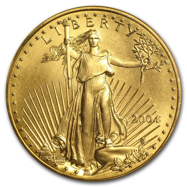 50ドル金貨 2004 Gold Eagle MS-70 PCGS 完全未使用