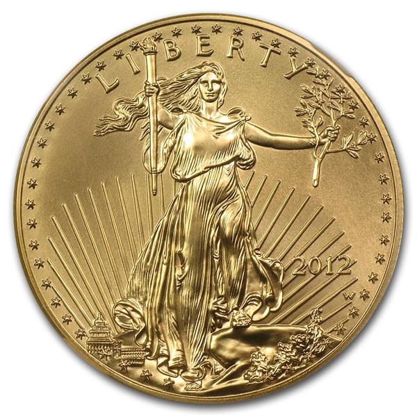 50ドル金貨 2012-W Gold Eagle $50 NGC MS70 EARLY RELEASES 完全未使用