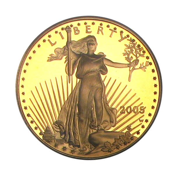 アメリカ 25ドルイーグル金貨2005-W Gold Eagle $25 PCGS Proof 70 DCAM