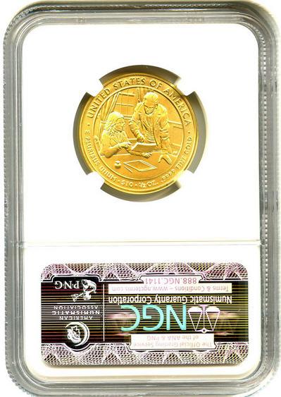 2009-W 10ドル金貨 サラ ポーク $10 NGC MS70-UCAM