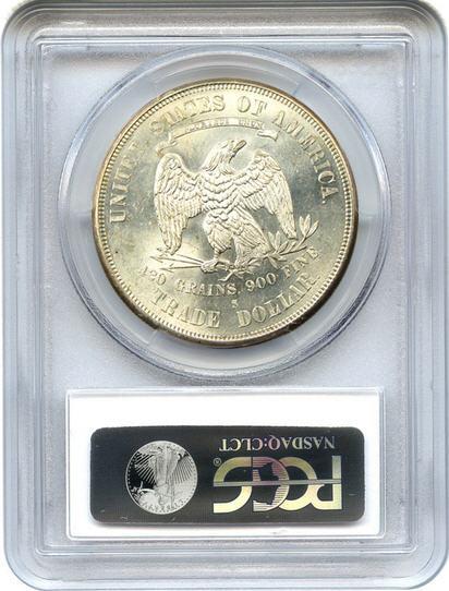 アンティークコイン アメリカ 1ドル トレードダラー銀貨 1874-S Trade$ PCGS/CAC MS63 未使用