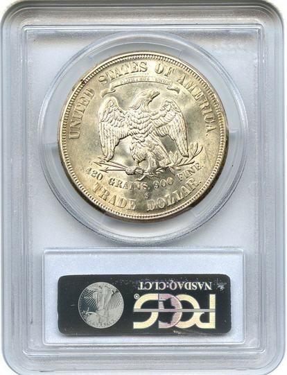 アンティークコイン アメリカ 1ドル トレードダラー銀貨 1875-S Trade$ PCGS MS64 未使用