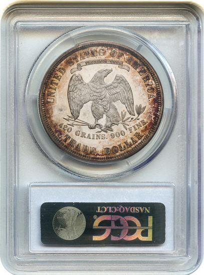 アンティークコイン アメリカ 1ドル トレードダラー銀貨 1881 Trade$ PCGS/CAC Proof 65 CAM 未使用 売切れ