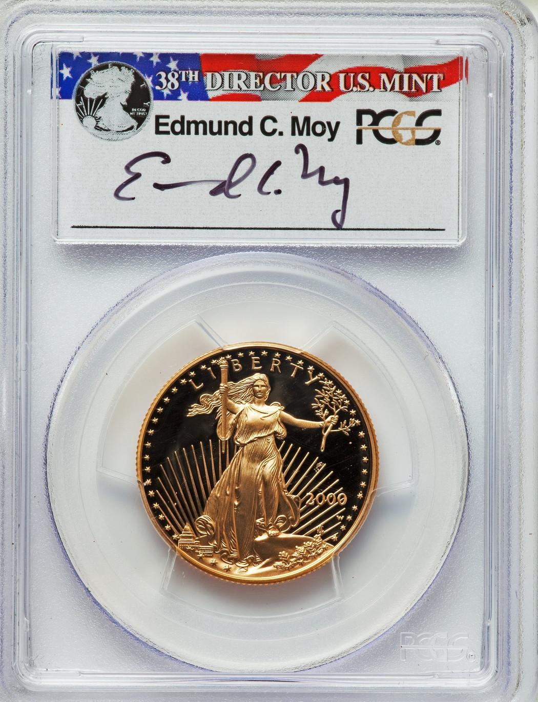 25ドル金貨 ゴールドイーグル 2000W GOLD EAGLE  $25 PCGS PR70DCAMモイサイン入り