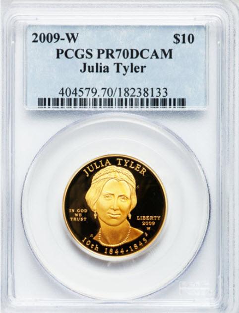 2009-W 10ドル金貨 ジュリア タイラー$10 PCGS PR70DCAM-19660924
