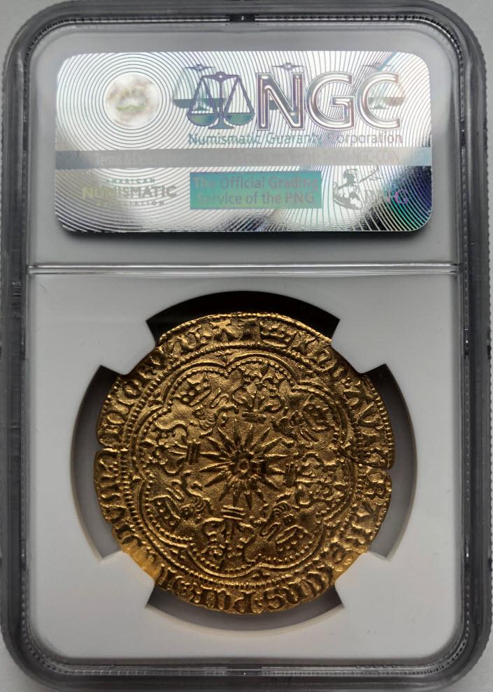 グレートブリテン エドワード4世(1464〜1470)ゴールド・ロイヤル(ローズノーブル)NGC-AU53
