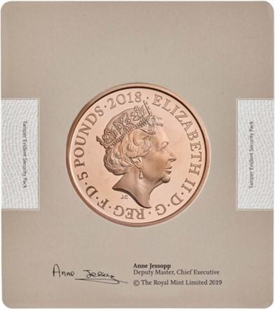グレートブリテン-トライアル・オブ・ザ・ピクス2018年HRHプリンスオブウェールズ生誕70歳年記念5ポンドプルーフ金貨ブック付き1