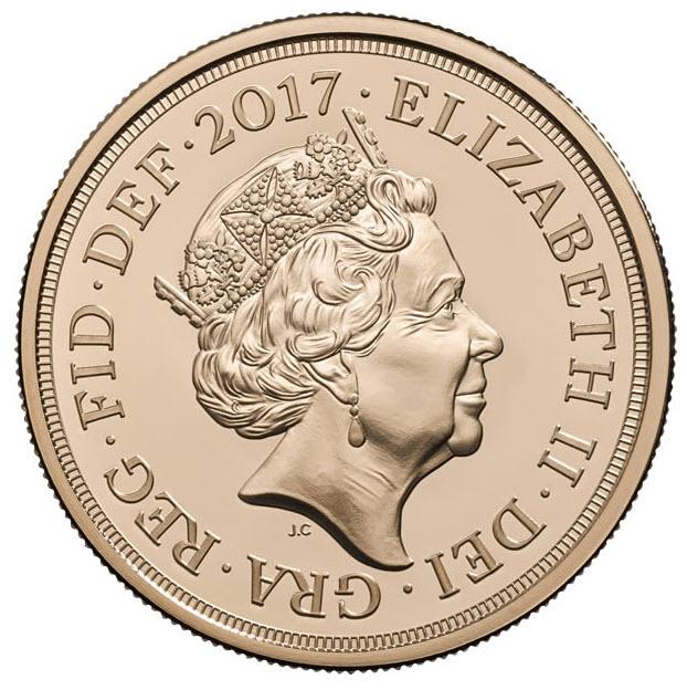 グレートブリテン2017年エリザベスII世 200周年記念5ポンド金貨箱付き