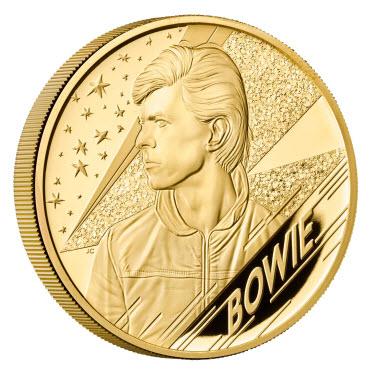 グレートブリテン 2020年 デヴィッド・ボウイ500ポンドプルーフ純金5オンス金貨 オリジナル箱付き2