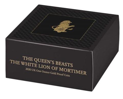 【動画あり】グレートブリテン クイーンズビースト 2020年 ホワイトライオン 100ポンド純金 プルーフ金貨 NGC-PF70UCAM