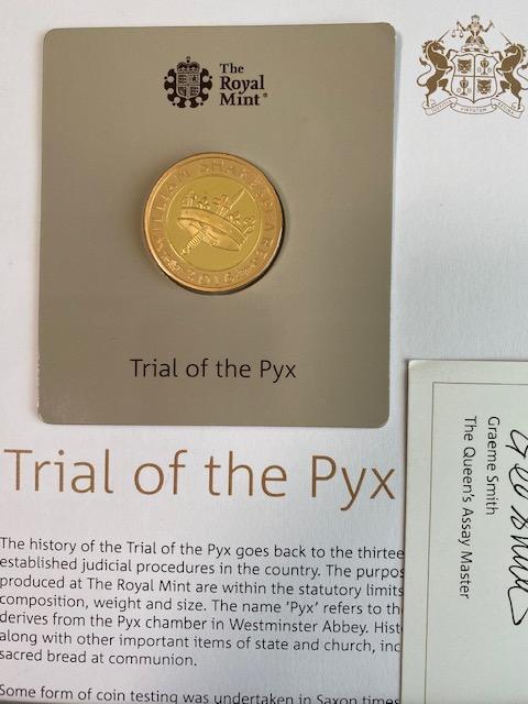 グレートブリテン-トライアル・オブ・ザ・ピクス2016年シェイクスピアヒストリー2ポンドプルーフ金貨ブック付き1
