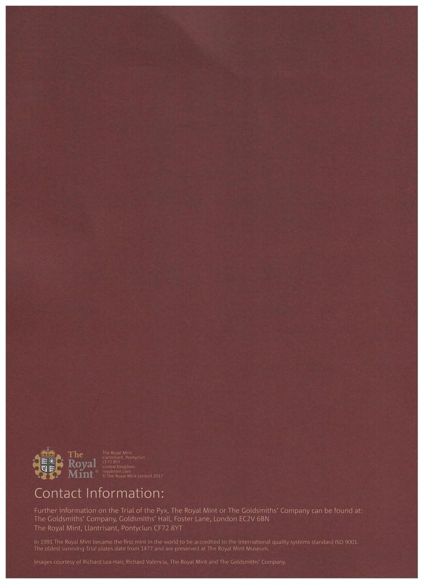 グレートブリテン-トライアル・オブ・ザ・ピクス2016年シェイクスピアヒストリー2ポンドプルーフ金貨ブック付き2