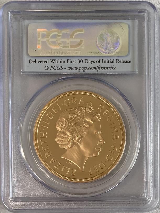 【動画あり】グレートブリテン2011年エリザベスII世5ポンドプルーフ金貨PCGS-PR70DCAMファーストストライク