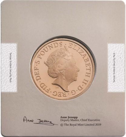 グレートブリテン-トライアル・オブ・ザ・ピクス2018年エリザベスII世4ジェネレーション5ポンドプルーフ金貨ブック付き