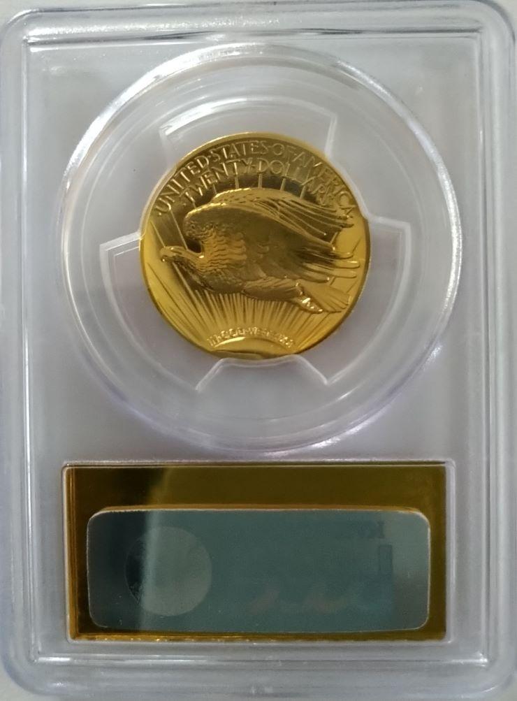 2009ウルトラハイリリーフ金貨 PCGS-MS70PL(プルーフライク)ゴールドラベル