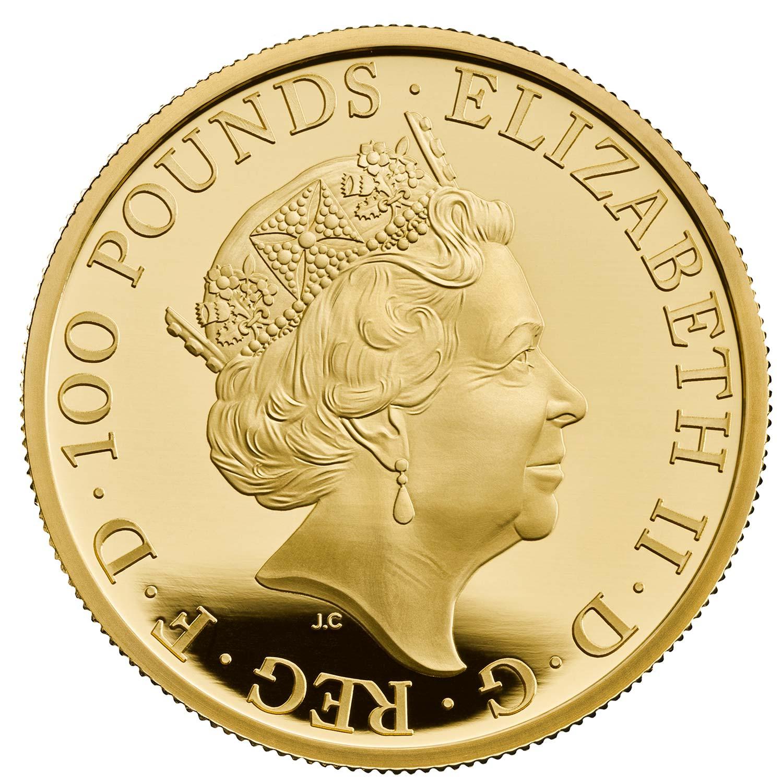 グレートブリテン2021年クイーンズビースト リッチモンドのホワイトグレーハウンド 100ポンド金貨NGC-PF70UCAM