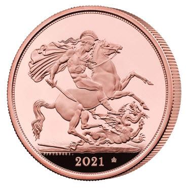 グレートブリテン 2021年 エリザベスII世95周年バースデー記念5ポンド金貨 PCGS-PR70DCAM-40836947