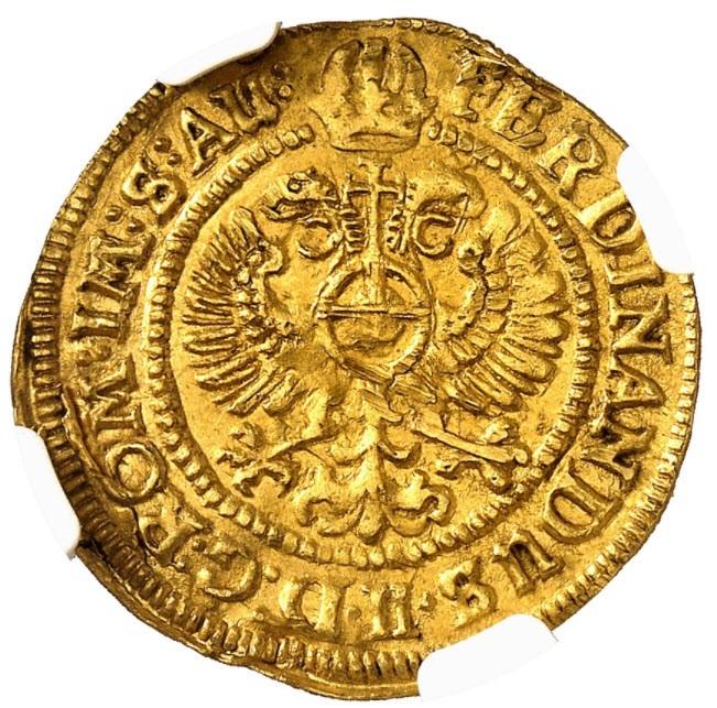 【動画あり】ドイツ ロストック 1636年フェルディナンド2世 1ダカット金貨NGC-MS63