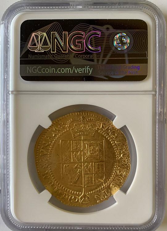 アンティークコイン-グレートブリテン-ジェームズ1世 ゴールドローレル ND (1623-1624)NGC-AU55