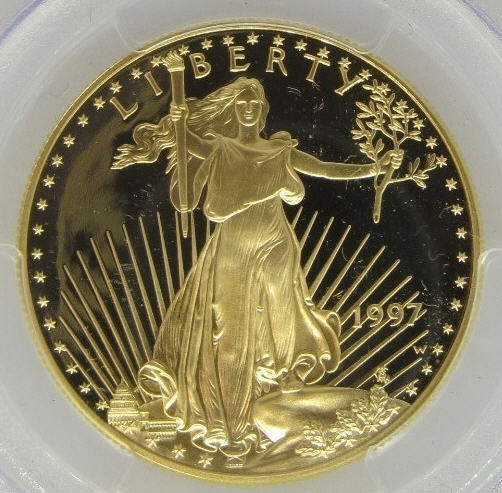 50ドル金貨 1997-W PCGS PR70 Proof Gold Eagle $50 DCAM