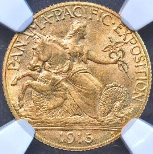 1915-S $2 1/2 PAN-PAC パナマ・パシフィック2.5ドル金貨NGC MS67