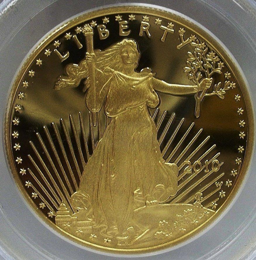 50ドル金貨 ゴールドイーグル 2010-W GOLD EAGLE PROOF $50 PCGS PR 70 DCAM FIRST STRIKE