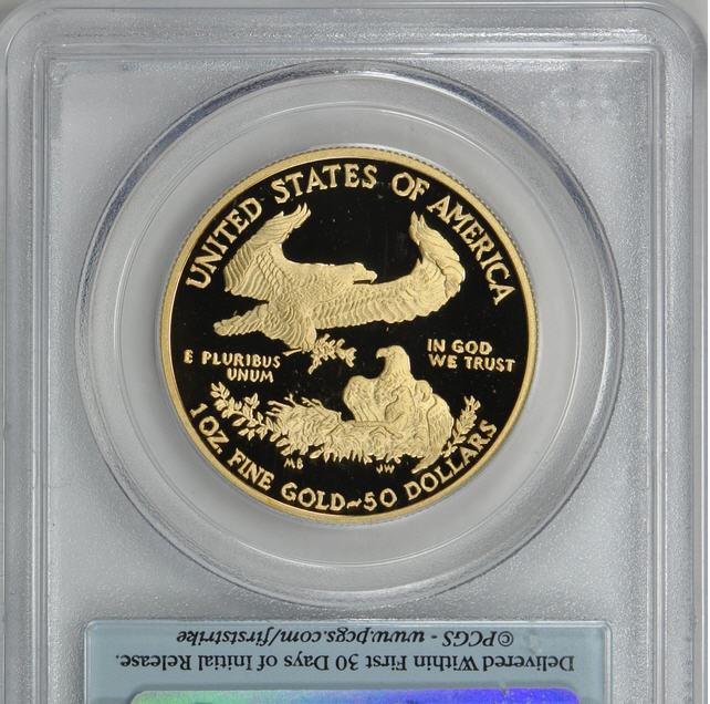 【動画あり】50ドル金貨 ゴールドイーグル 2010-W GOLD EAGLE  $50 PCGS PR70 DCAM ファーストストライク完全未使用