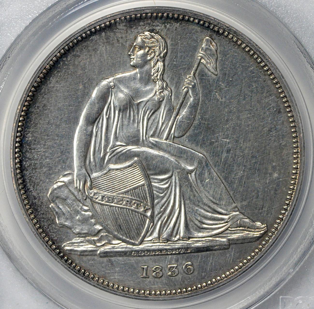 リバティ シーテッドダラー1ドル タイプ1 GOBRECHT DOLLARS Original Coin Alignment 1836 $1 PR61 PCGS