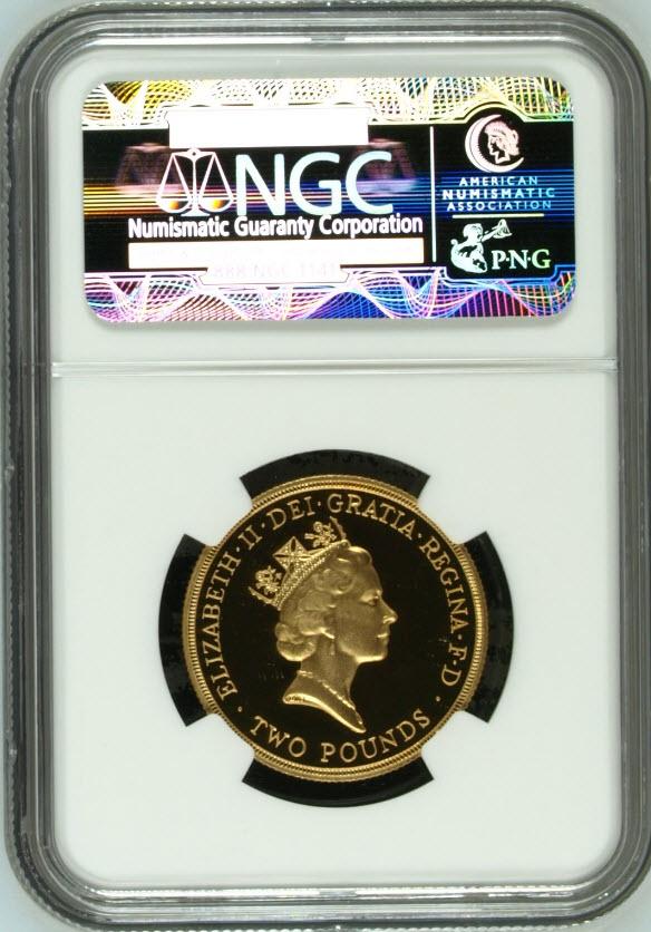 1994グレートブリテン 2ポンド バンク オブ イングランド金貨PF69 UCAM NGC