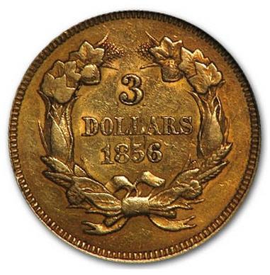 アンティークコイン アメリカ 3ドル金貨インディアンプリンスヘッド1856 AU-55 NGC