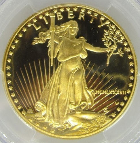 50ドル金貨 1987-W PCGS PR70 Proof Gold Eagle $50 DCAM