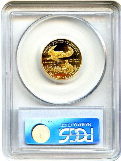 アメリカ 10ドルイーグル金貨2002-W Gold Eagle $10 PCGS Proof 70 DCAM